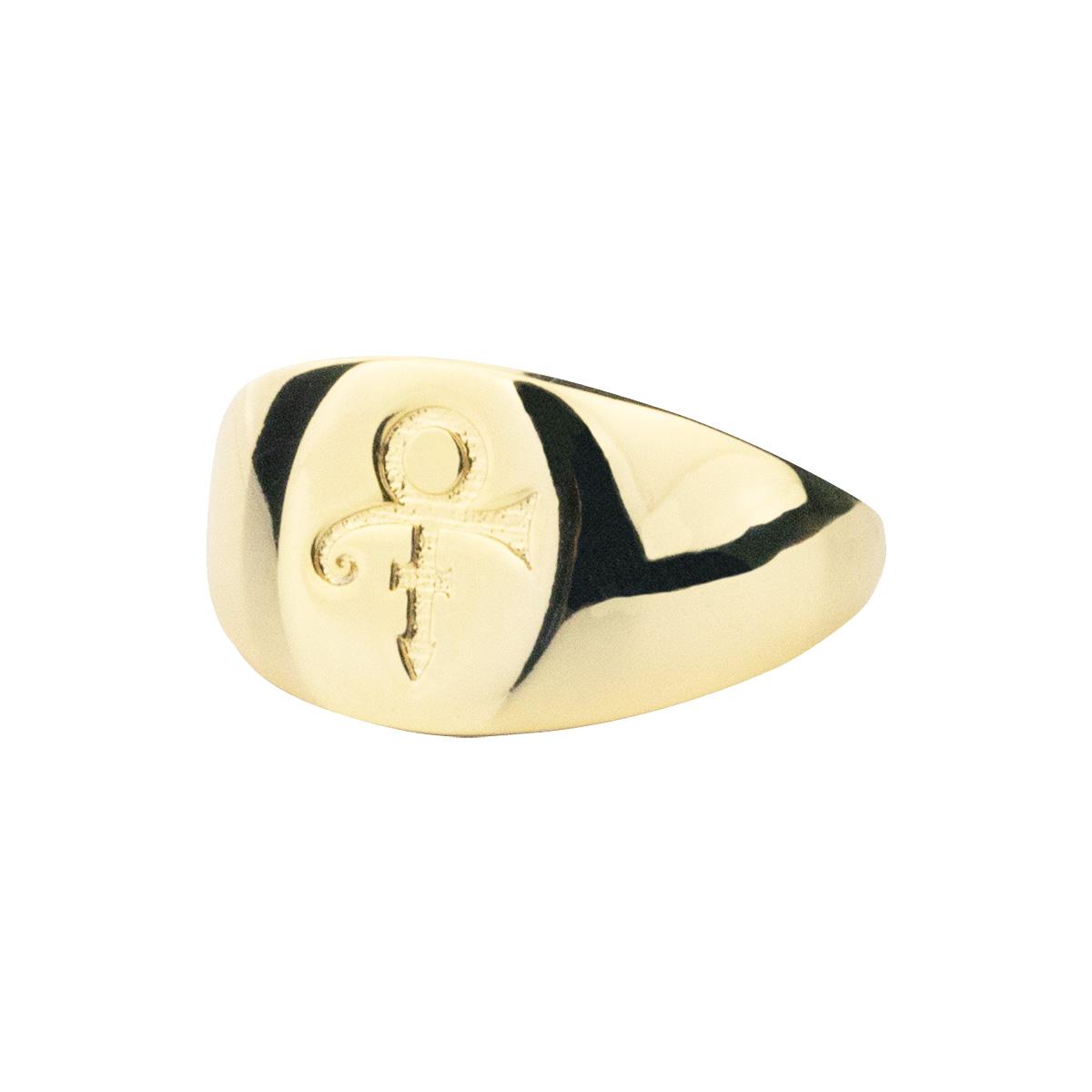 Prince Symbol Signet Ring [Gold]