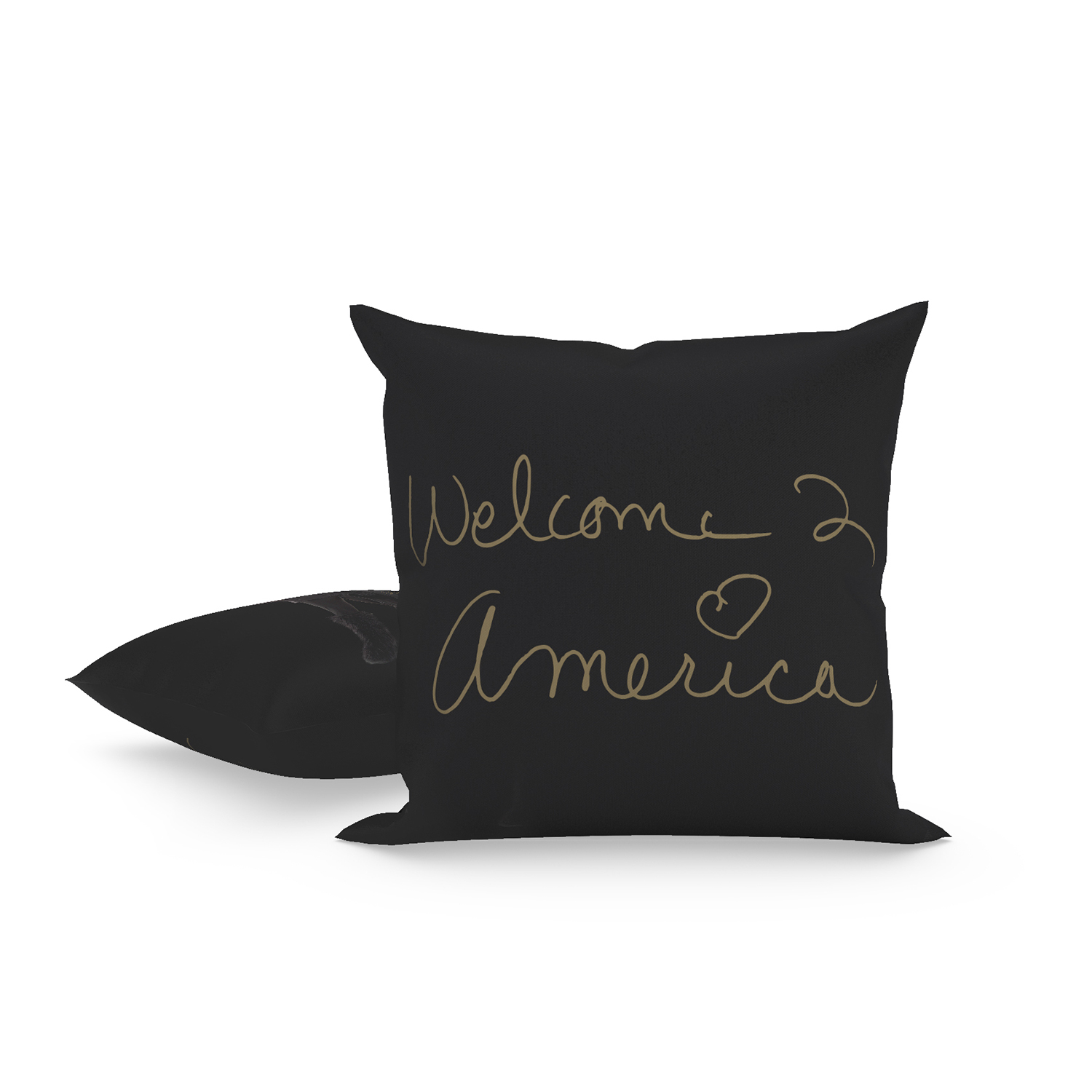 Welcome 2 America Heart Pillow