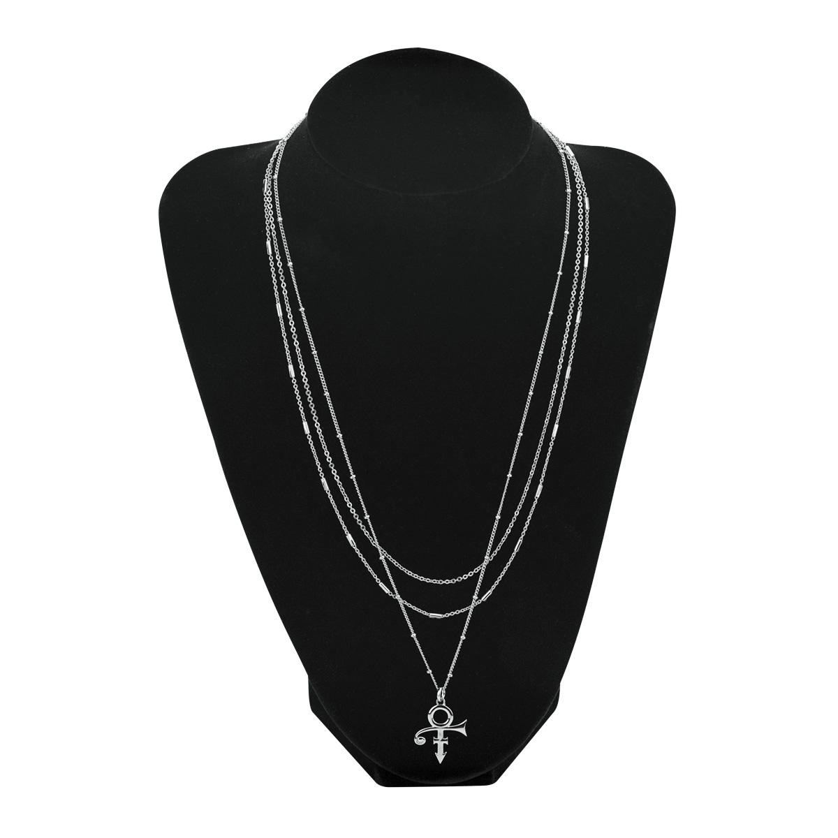 3-Tier Prince Symbol Necklace [Silver]