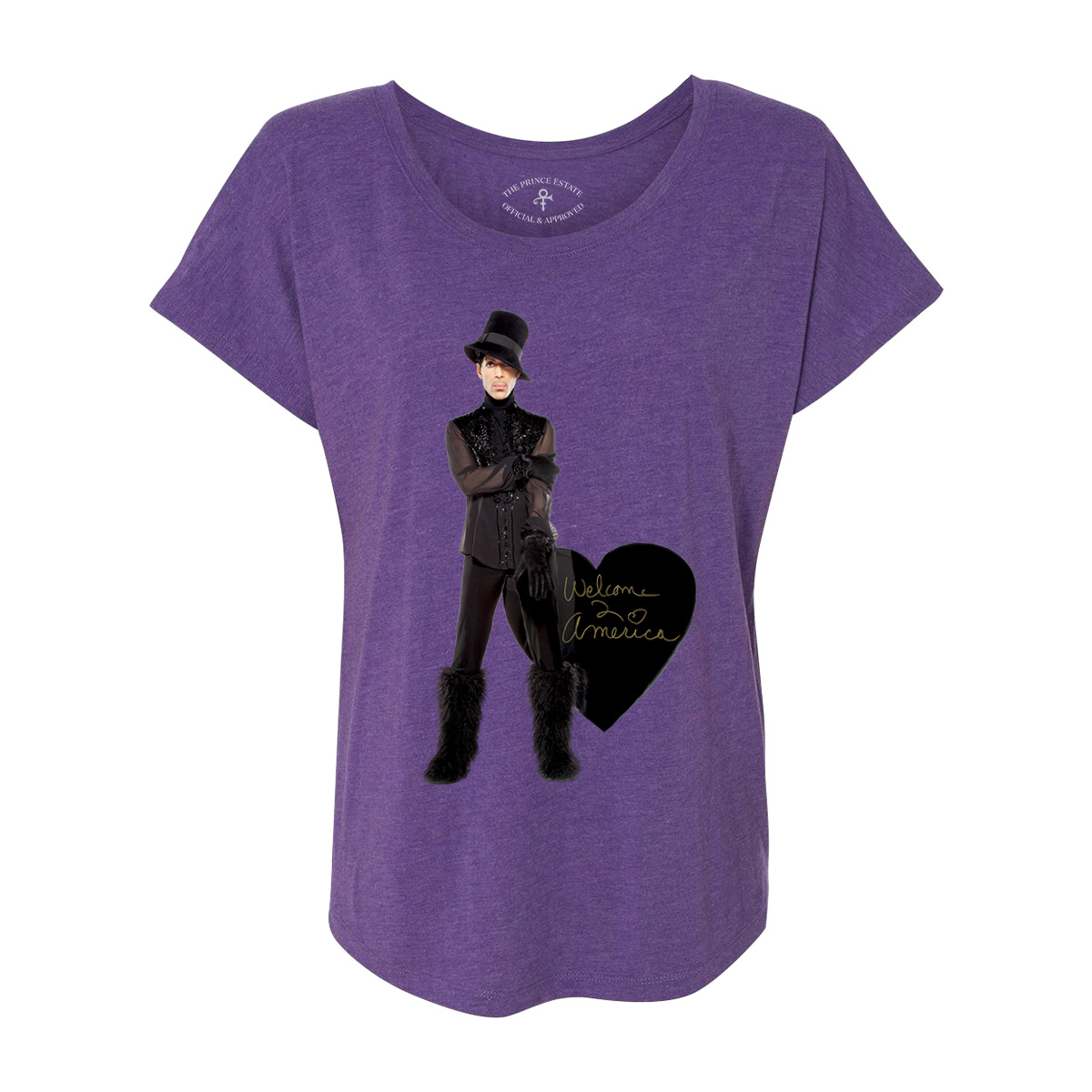 Welcome 2 America Heart Scoop Neck Woman's T-Shirt