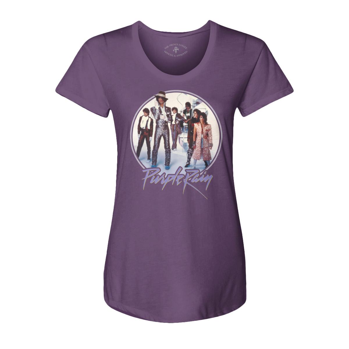 Purple Rain Revolution Scoop Neck Women's Tee (Purple)