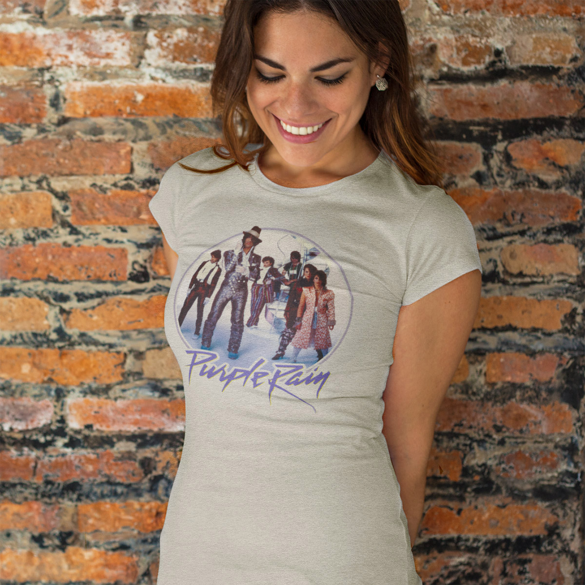 Purple Rain Revolution Scoop Neck Women's Tee (Oatmeal)