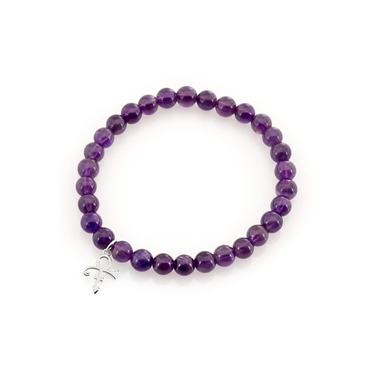 Love Symbol Beaded Bracelet [Silver]