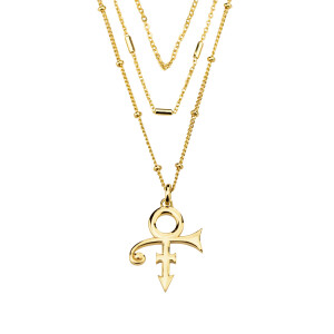 3-Tier Prince Symbol Necklace [Gold]