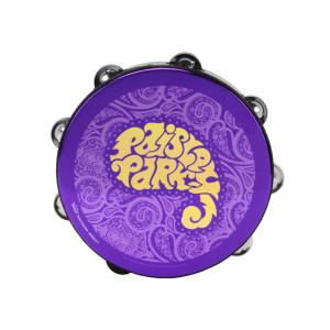 Purple Paisley Tambourine