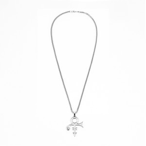 Love Symbol Necklace with Crystal Embellishment (Silver)