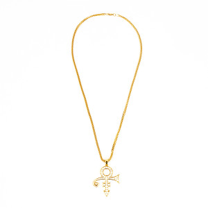 Love Symbol Necklace with Crystal Embellishment (Gold)