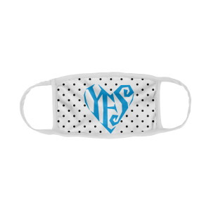 Yes/Heart Logo Face Covering (White)