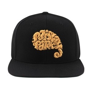 Paisley Park Logo Snapback Hat (Black and Gold)