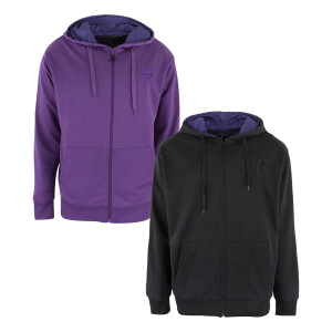 Love Symbol Zip Hoodie with Purple Paisley Lining