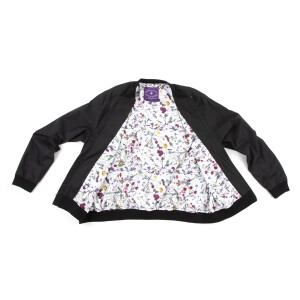 Purple Rain Bomber (Light Weight) with Floral Print Lining