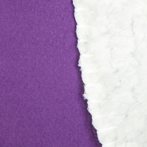 Purple & White Love Symbol - Sherpa Blanket