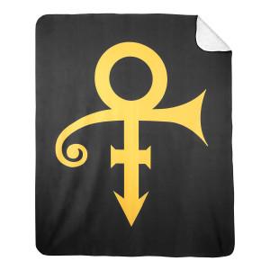 Black & Gold Prince Symbol - Sherpa Blanket