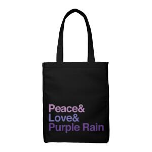 Peace & Love & Purple Rain Tote
