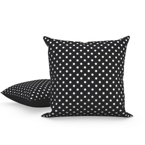 Yes Heart/Polka Dot (Pink) Pillow