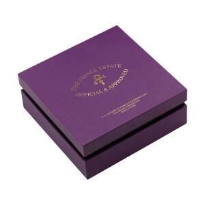 Prince Symbol Crystal Mini Hoop Earrings [Silver]