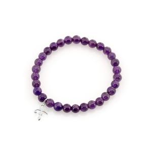 Prince Symbol Beaded Bracelet [Silver]