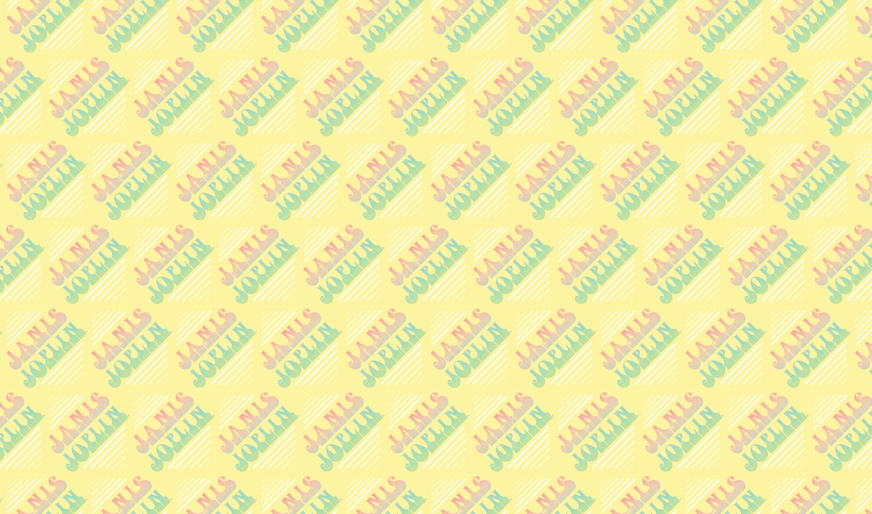 Janis Joplin Mellow Yellow Wrapping Paper
