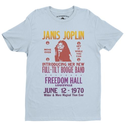 Janis Joplin Full Tilt T-Shirt - Lightweight Vintage Style