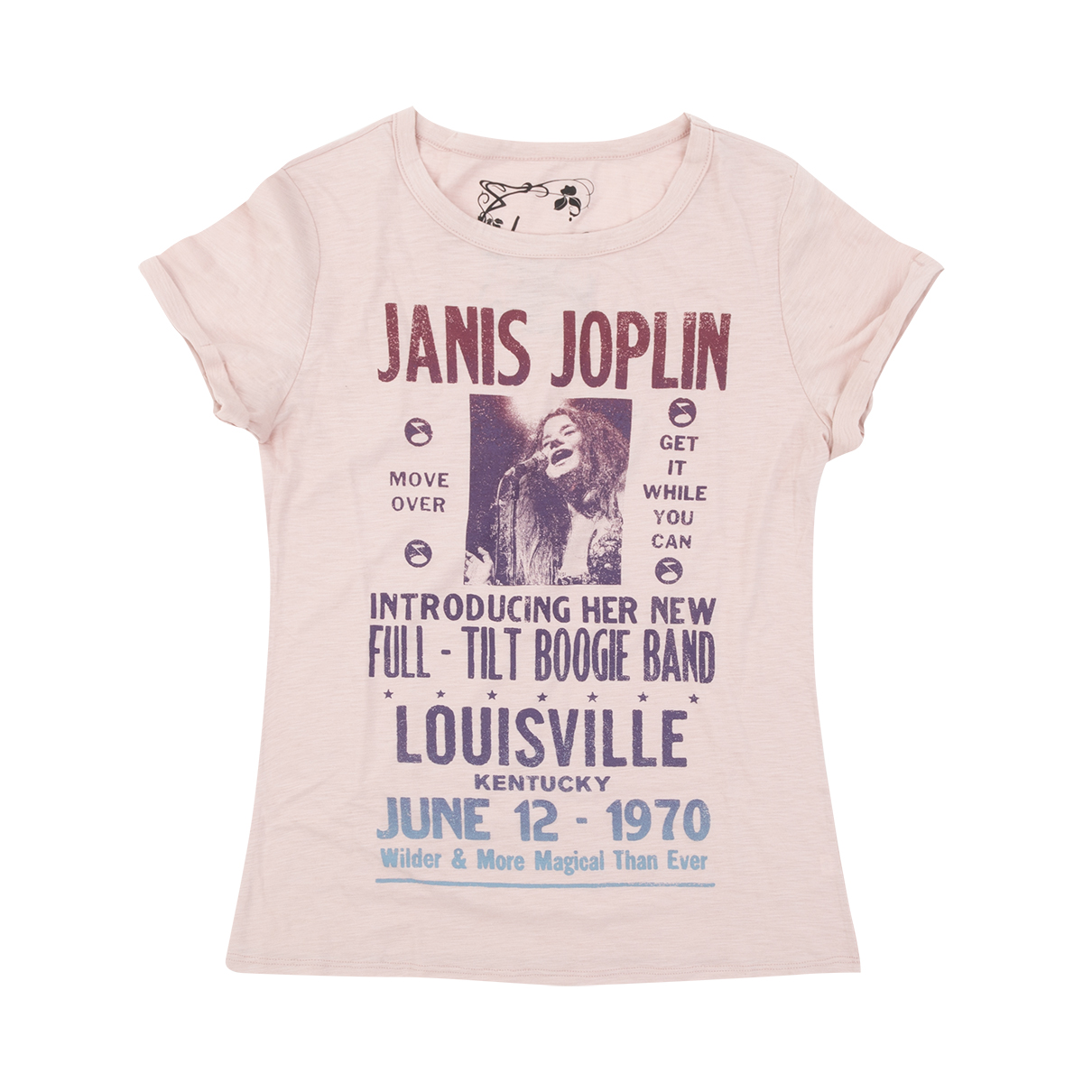 Janis Joplin and the Full Tilt Boogie Band Tour Ladies T-shirt