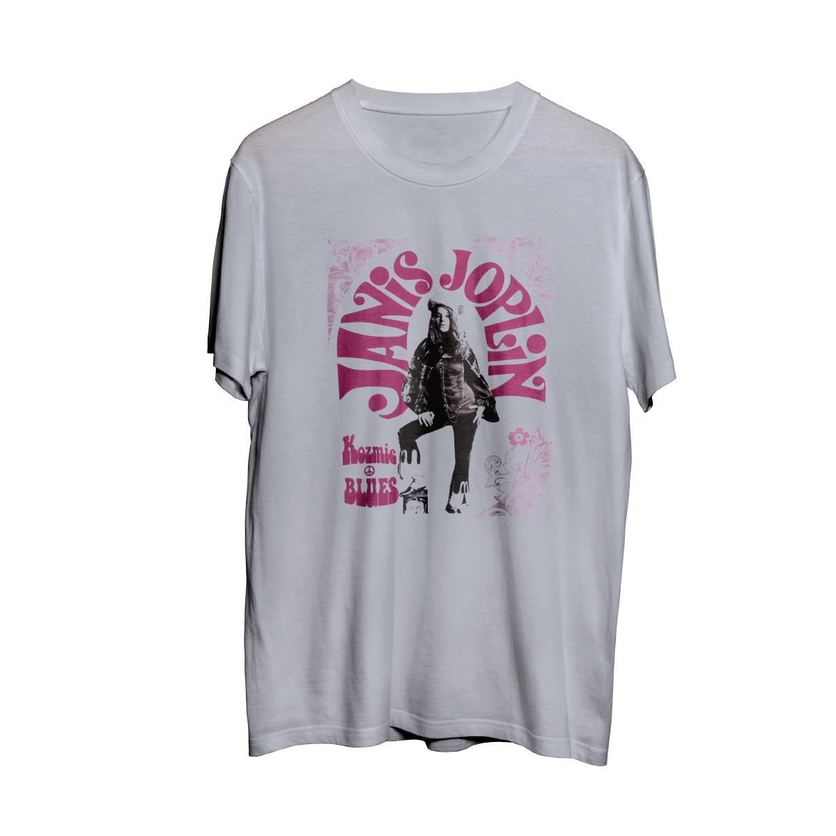 Janis Joplin Kozmic Blues Black Photo T-shirt