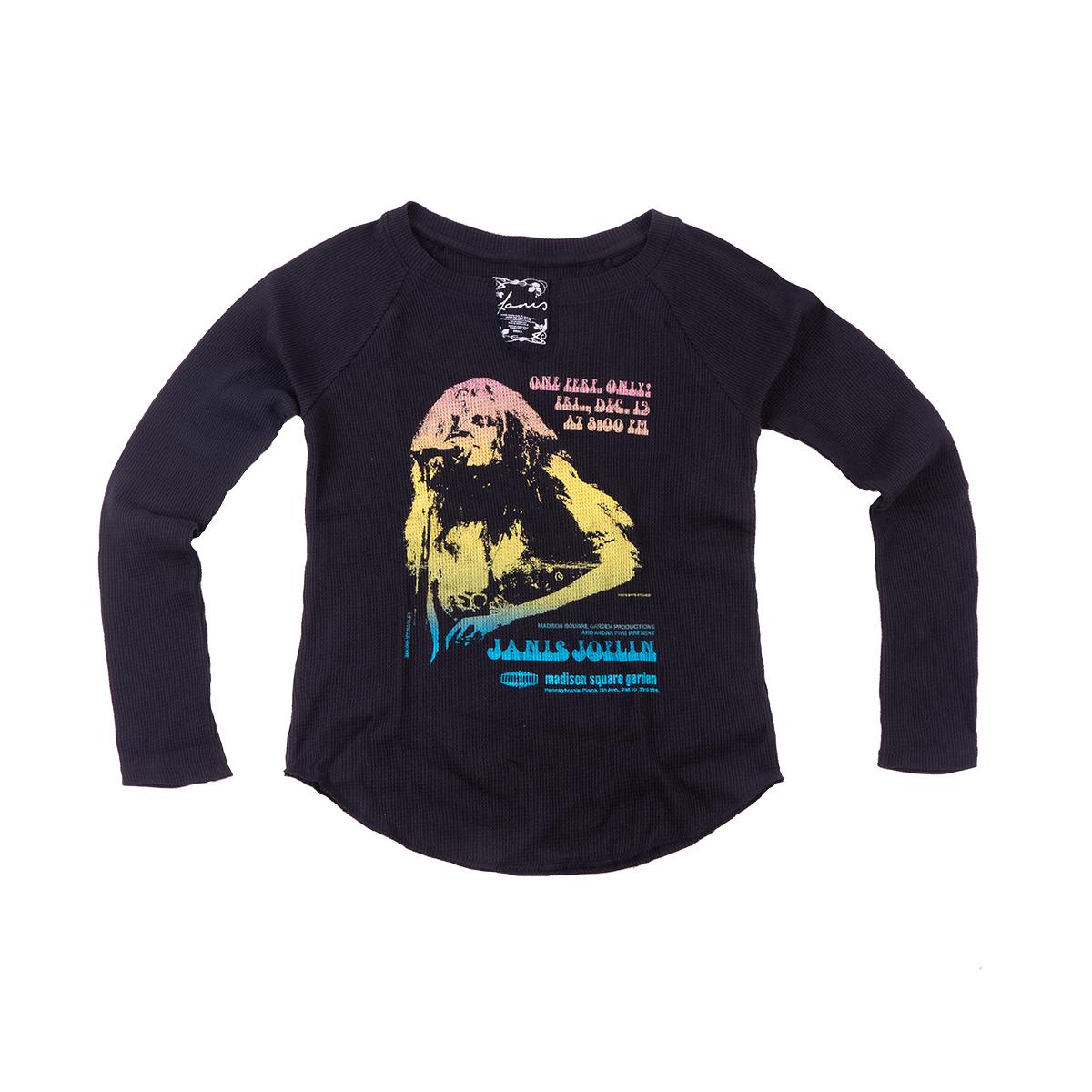Janis Joplin Madison Square Garden Long Sleeve Ladies T-shirt