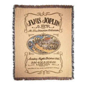 Janis Joplin Throw Blanket