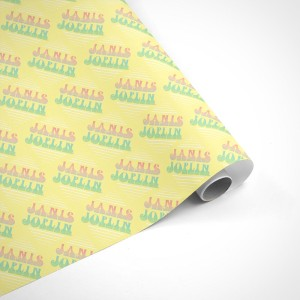 Janis Joplin Mellow Yellow Wrapping Paper