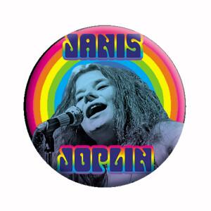 """Janis Joplin Heart 1.25"""" Button"""