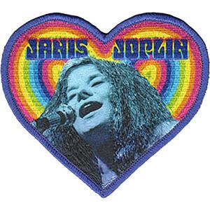 """Janis Joplin Heart 3.5""""x4"""" Patch"""
