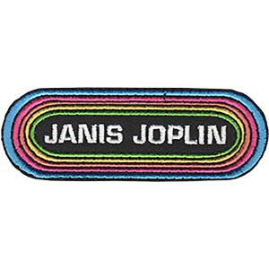 """Janis Joplin Rainbow 4""""x1.4"""" Patch"""