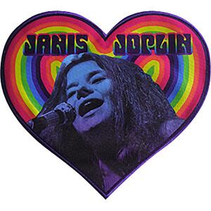 """Janis Joplin Heart 9.2""""x8.25"""" Oversized Patch"""