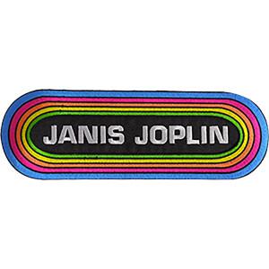 """Janis Joplin KMET 9.5""""x3.25"""" Oversized Patch"""