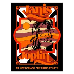 Janis Joplin 8/8/1970 Anniversary Poster - Main Edition