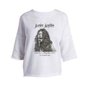 Janis Joplin Olympia Paris Cross Back Drop Shoulder Top