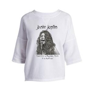 Janis Joplin Olympia Paris Cross Back Drop Shoulder Top