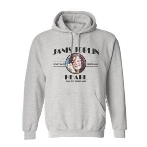 Janis Joplin Pearl Grey Pullover Hoodie