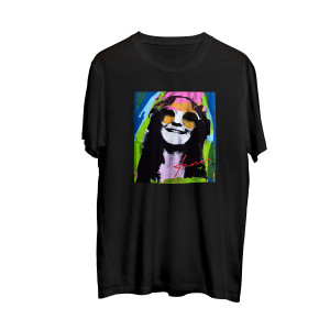 Janis Joplin Multicolor Black Photo T-shirt