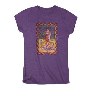 Janis Joplin Avalon Ballroom 1967 Purple Poster T-shirt