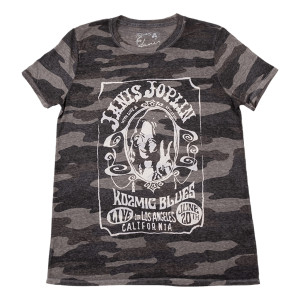 Janis Joplin Kozmic Blues Camo Ladies T-Shirt