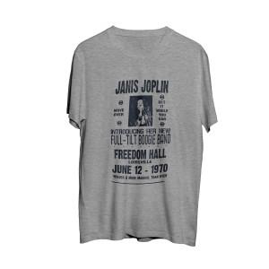Janis Joplin Freedom Hall June 12th Poster Grey T-shirt