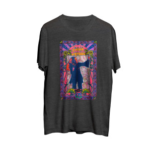Janis Joplin Charcoal Heather T-shirt