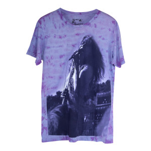 Janis Joplin Purple Tie Dye Concert Photo T-shirt