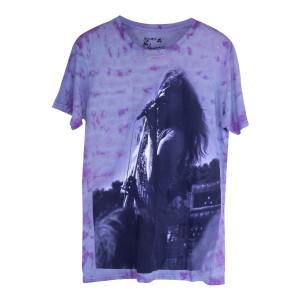 Janis Joplin Purple Tie Dye Concert Photo T-shirt