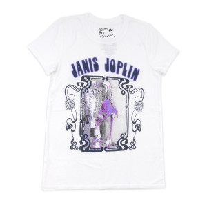 Janis Joplin Purple and White T-shirt