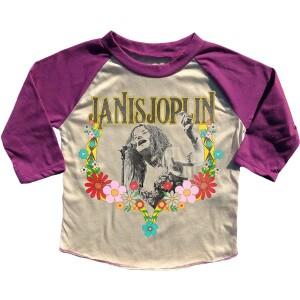 Janis Joplin Floral Girls Raglan Tee
