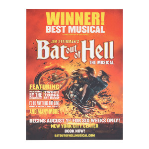 Bat Out of Hell New York City Center Show Poster