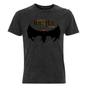 Bat Out Of Hell Bat Logo Acid Wash T-shirt