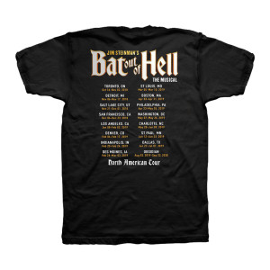 Bat Out Of Hell Men's Black North American Tour Event T-Shirt