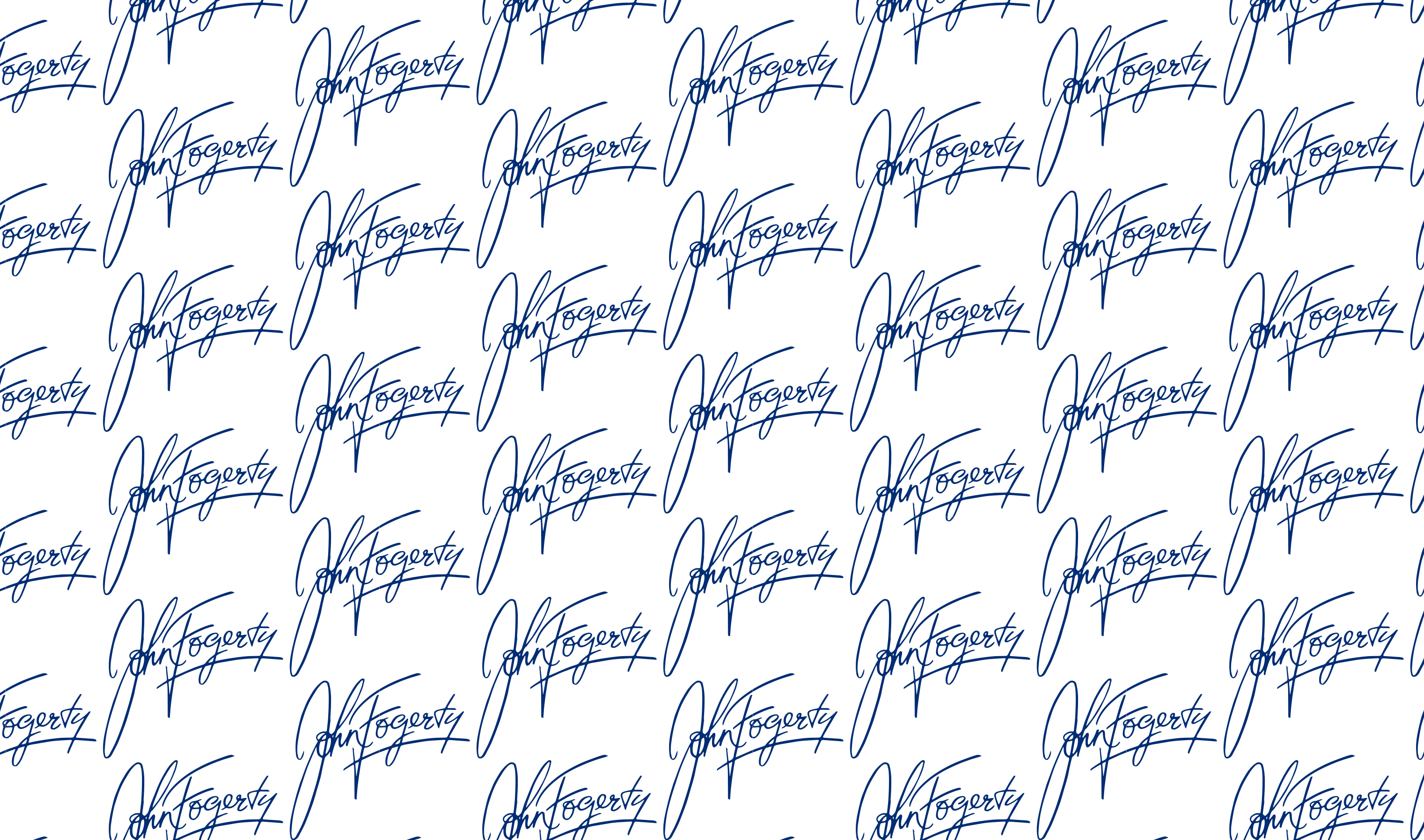 John Fogerty Calligraphy Wrapping Paper